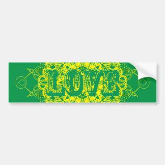 Love Mandala Design Bumper Sticker