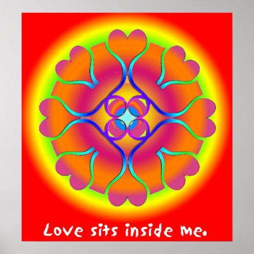 Love Mandala Poster