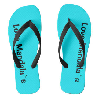 Love mandala`s flip flops