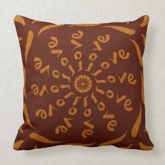 Love Mandala Throw Pillow