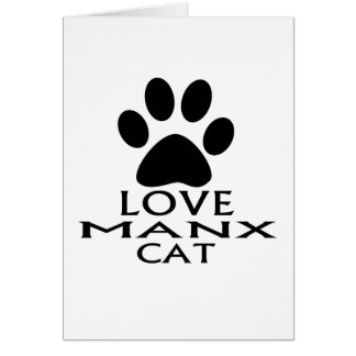 LOVE MANX CAT DESIGNS CARD