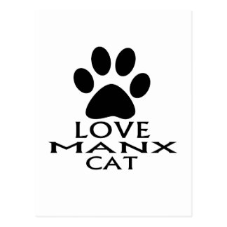 LOVE MANX CAT DESIGNS POSTCARD