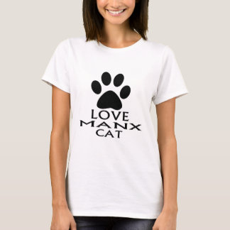 LOVE MANX CAT DESIGNS T-Shirt