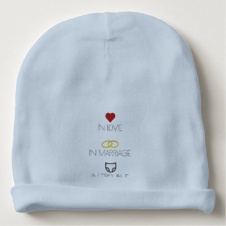 Love, Marriage and Trouble Zh51b Baby Beanie