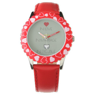 Love, Marriage and Trouble Zh51b Wrist Watches