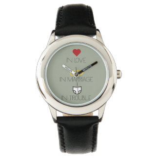 Love, Marriage and Trouble Zh51b Wristwatch