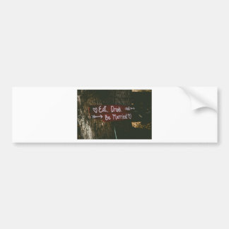 Love marriage bumper sticker