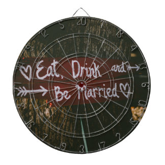 Love marriage dartboard