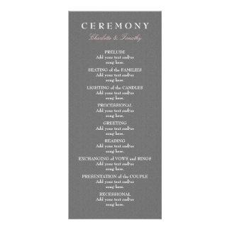 Love & Marriage Modern Wedding Program Custom Rack Cards