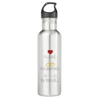 Love Marriage Trouble Zb756 710 Ml Water Bottle