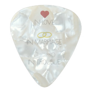 Love Marriage Trouble Zb756 Pearl Celluloid Guitar Pick