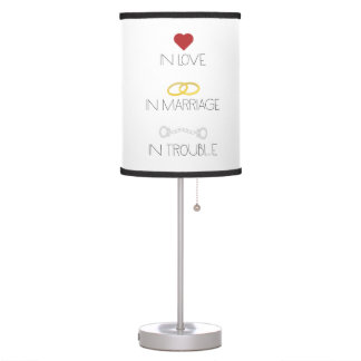 Love Marriage Trouble Zb756 Table Lamp