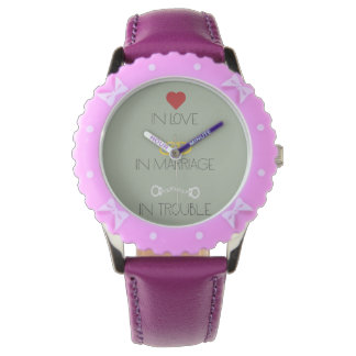 Love Marriage Trouble Zb756 Wristwatch