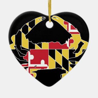 Love Maryland Ceramic Ornament