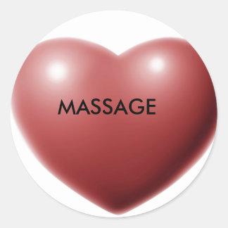 Love MASSAGE Round Sticker