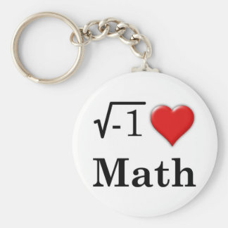 Love math keychain