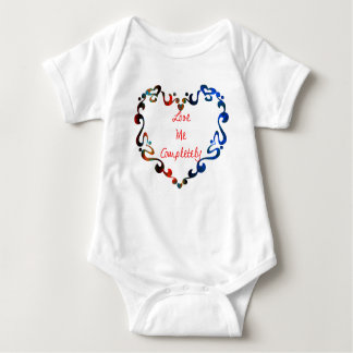 Love Me Completely Message Design Baby Bodysuit