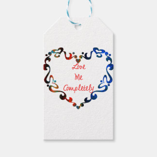 Love Me Completely Message Design Gift Tags