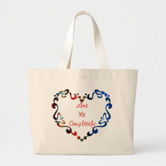 Love Me Completely Message Design Large Tote Bag