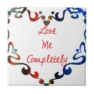 Love Me Completely Message Design Tiles