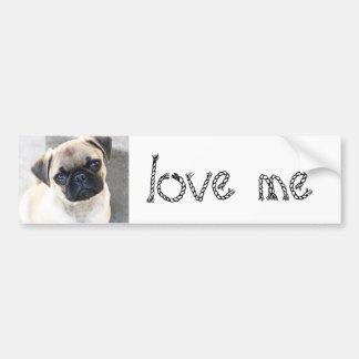 love me - cute mops bumper sticker