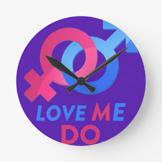 Love Me Do! Wall Clock