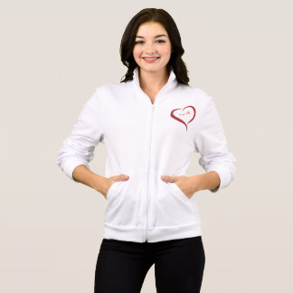 Love Me Heart Fleece Zip Jogger for women