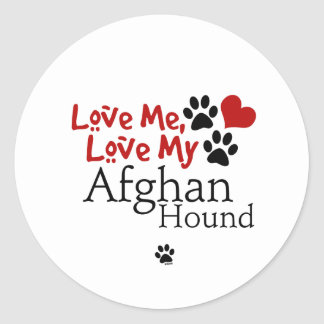 Love Me, Love My Afghan Hound Stickers