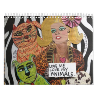 LOVE ME LOVE MY ANIMALS medium CALENDAR
