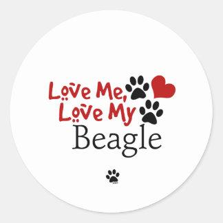 Love Me Love My Beagle Stickers
