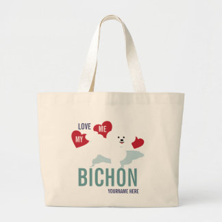 Love ME Love my Bichon Tote Bag