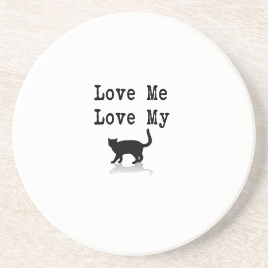 Love Me Love My Cat Coaster