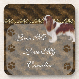 Love Me Love my Cavalier Coaster set brown