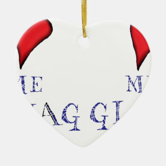 love me love my haggis ceramic ornament