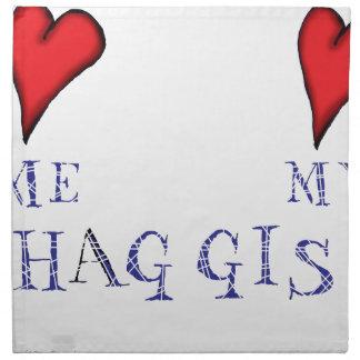 love me love my haggis napkin