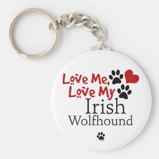 Love Me, Love My Irish Wolfhound Keychain