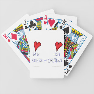 love me love my neeps and tatties bicycle playing cards