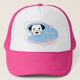 Love me...love my Pitbull Trucker Hat