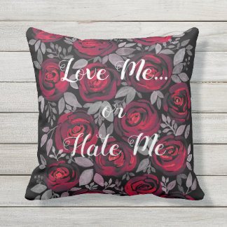 Love me . outdoor pillow