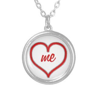 Love Me Silver Plated Necklace