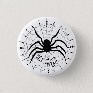 Love Me Spider 1 Inch Round Button
