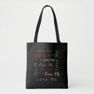 Love Me Word Art Tote Bag