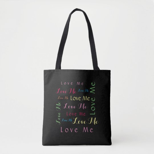 Love Me Word Art Tote Bag