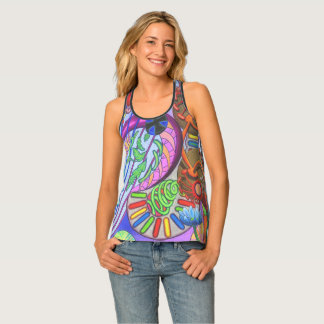 """Love Mechine"" All-Over Print Racerback Tank"