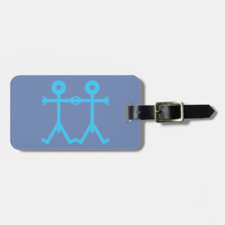 Love Men Icon Art Blue Luggage Tag