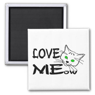 Love MEow Square Magnet