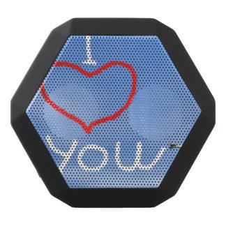 Love message from biplan smoke - 3D render Black Bluetooth Speaker