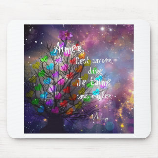 Love message on the tree plenty of hearts mouse pad