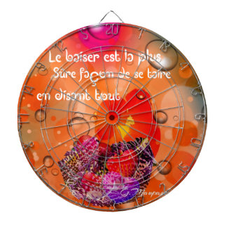 Love message with colorful hearts. dartboard