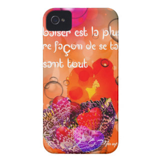 Love message with colorful hearts. iPhone 4 Case-Mate cases